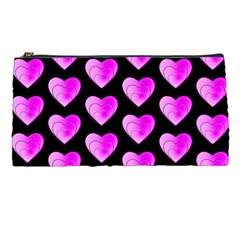 Heart Pattern Pink Pencil Cases by MoreColorsinLife