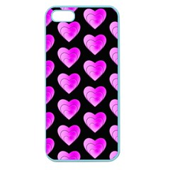 Heart Pattern Pink Apple Seamless Iphone 5 Case (color) by MoreColorsinLife