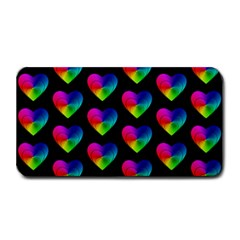 Heart Pattern Rainbow Medium Bar Mats by MoreColorsinLife