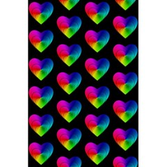 Heart Pattern Rainbow 5.5  x 8.5  Notebooks by MoreColorsinLife