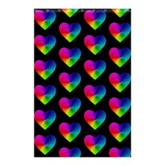 Heart Pattern Rainbow Shower Curtain 48  x 72  (Small)  by MoreColorsinLife