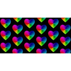 Heart Pattern Rainbow YOU ARE INVITED 3D Greeting Card (8x4)