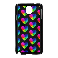 Heart Pattern Rainbow Samsung Galaxy Note 3 Neo Hardshell Case (black) by MoreColorsinLife