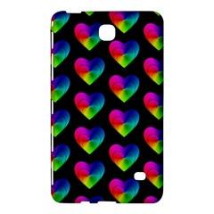 Heart Pattern Rainbow Samsung Galaxy Tab 4 (8 ) Hardshell Case  by MoreColorsinLife