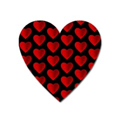 Heart Pattern Red Heart Magnet by MoreColorsinLife