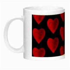 Heart Pattern Red Night Luminous Mugs by MoreColorsinLife