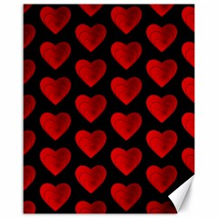 Heart Pattern Red Canvas 16  X 20   by MoreColorsinLife