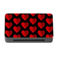 Heart Pattern Red Memory Card Reader With Cf by MoreColorsinLife