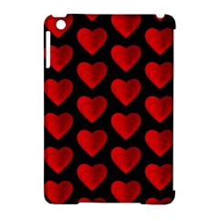 Heart Pattern Red Apple Ipad Mini Hardshell Case (compatible With Smart Cover) by MoreColorsinLife