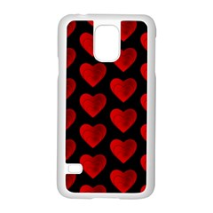 Heart Pattern Red Samsung Galaxy S5 Case (White) by MoreColorsinLife