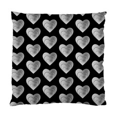 Heart Pattern Silver Standard Cushion Case (one Side)  by MoreColorsinLife