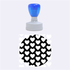 Heart Pattern Silver Rubber Round Stamps (medium) by MoreColorsinLife