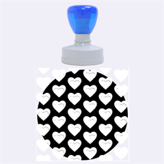 Heart Pattern Silver Rubber Round Stamps (large)
