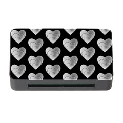 Heart Pattern Silver Memory Card Reader with CF by MoreColorsinLife