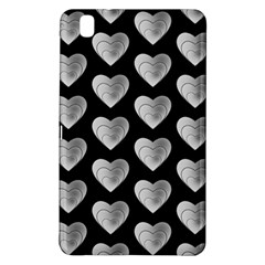 Heart Pattern Silver Samsung Galaxy Tab Pro 8 4 Hardshell Case by MoreColorsinLife
