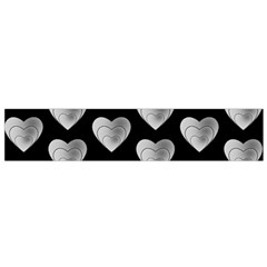 Heart Pattern Silver Flano Scarf (small)  by MoreColorsinLife