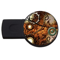 Steampunk In Noble Design Usb Flash Drive Round (4 Gb)  by FantasyWorld7