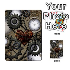 Steampunk With Clocks And Gears And Heart Multi Purpose Cards (rectangle)