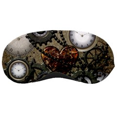 Steampunk With Clocks And Gears And Heart Sleeping Masks by FantasyWorld7