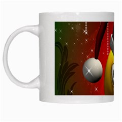 Funny Christmas Smiley White Mugs by FantasyWorld7