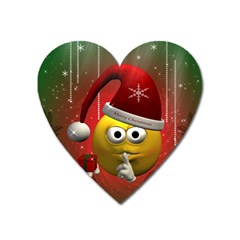 Funny Christmas Smiley Heart Magnet by FantasyWorld7