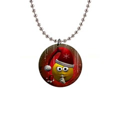 Funny Christmas Smiley Button Necklaces by FantasyWorld7