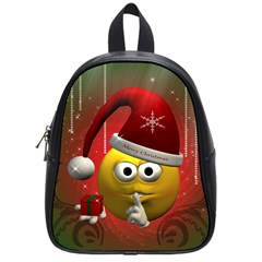 Funny Christmas Smiley School Bags (small)  by FantasyWorld7