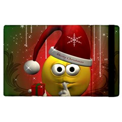 Funny Christmas Smiley Apple iPad 3/4 Flip Case by FantasyWorld7