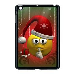 Funny Christmas Smiley Apple Ipad Mini Case (black) by FantasyWorld7