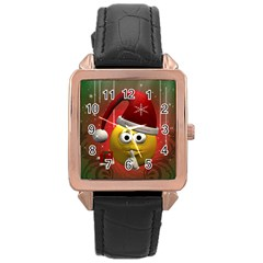 Funny Christmas Smiley Rose Gold Watches by FantasyWorld7