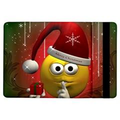 Funny Christmas Smiley Ipad Air Flip by FantasyWorld7