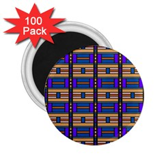 Rectangles And Stripes Pattern 2 25  Magnet (100 Pack)  by LalyLauraFLM
