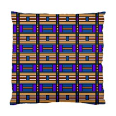 Rectangles And Stripes Pattern Standard Cushion Case (two Sides) by LalyLauraFLM