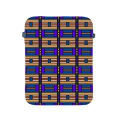 Rectangles And Stripes Pattern Apple Ipad 2/3/4 Protective Soft Case by LalyLauraFLM