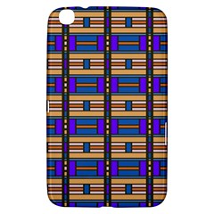 Rectangles And Stripes Pattern Samsung Galaxy Tab 3 (8 ) T3100 Hardshell Case  by LalyLauraFLM