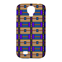 Rectangles And Stripes Pattern Samsung Galaxy S4 Classic Hardshell Case (pc+silicone) by LalyLauraFLM