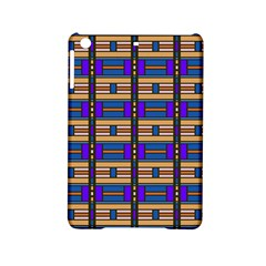 Rectangles And Stripes Pattern Apple Ipad Mini 2 Hardshell Case by LalyLauraFLM