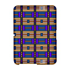 Rectangles and stripes pattern	Kindle Fire HD Hardshell Case by LalyLauraFLM