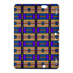 Rectangles And Stripes Pattern	kindle Fire Hdx 8 9  Hardshell Case by LalyLauraFLM