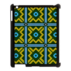 Rhombus In Squares Pattern Apple Ipad 3/4 Case (black) by LalyLauraFLM