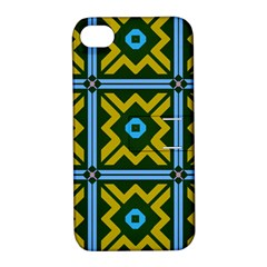Rhombus In Squares Pattern Apple Iphone 4/4s Hardshell Case With Stand by LalyLauraFLM
