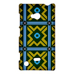 Rhombus in squares pattern Nokia Lumia 720 Hardshell Case by LalyLauraFLM