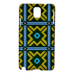 Rhombus In Squares Pattern Samsung Galaxy Note 3 N9005 Hardshell Case by LalyLauraFLM