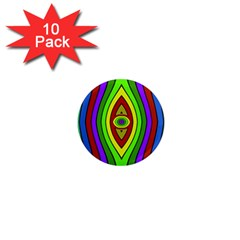 Colorful Symmetric Shapes 1  Mini Magnet (10 Pack)  by LalyLauraFLM