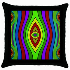 Colorful Symmetric Shapes Throw Pillow Case (black) by LalyLauraFLM