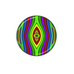 Colorful Symmetric Shapes Hat Clip Ball Marker (4 Pack) by LalyLauraFLM