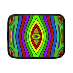 Colorful Symmetric Shapes Netbook Case (small) by LalyLauraFLM