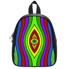 Colorful Symmetric Shapes School Bag (small) by LalyLauraFLM