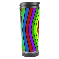 Colorful symmetric shapes Travel Tumbler by LalyLauraFLM