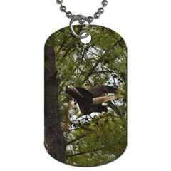 Bald Eagle Dog Tag (two Sides) by timelessartoncanvas